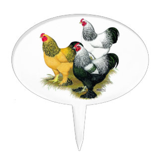 Brahmas Three Roosters Cake Topper