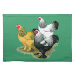 Brahmas Three Roosters Cloth Placemat