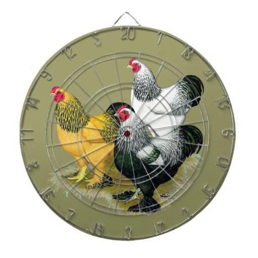 Brahmas Three Roosters Dart Boards