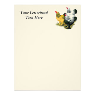 Brahmas Three Roosters Personalized Letterhead
