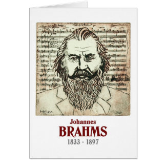 Brahms Greeting Card