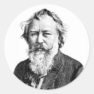 Brahms Classic Round Sticker