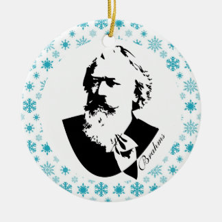 Brahms Composer Music Christmas Keepsake Ceramic Ornament