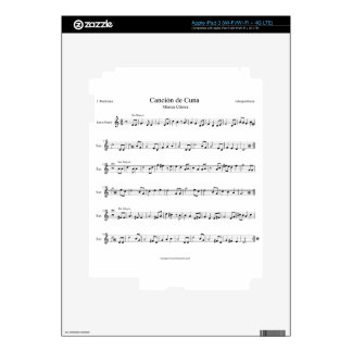 Brahms Lullaby Sheet Music iPad 3 Skins