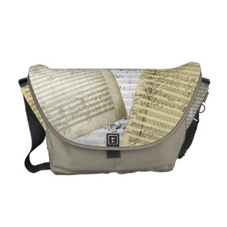Brahms Music Manuscript Medley Courier Bag
