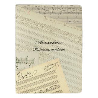 Brahms Music Manuscript Medley Custom Name Extra Large Moleskine Notebook