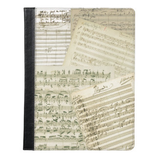 Brahms Music Manuscript Medley iPad Case