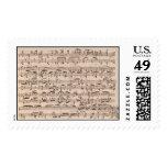 Brahms Music Manuscript Postage Stamp
