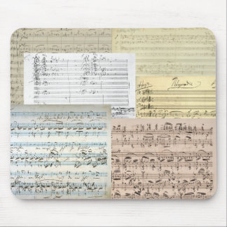 Brahms Music Manuscripts Mouse Pad