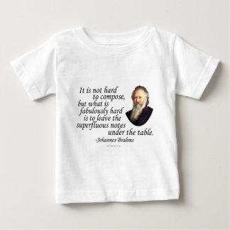 Brahms on Composing Tee Shirt