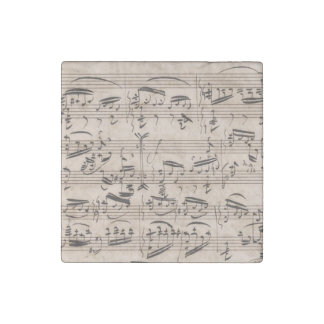 Brahms Theme and Variations Manuscript Fragment Stone Magnet