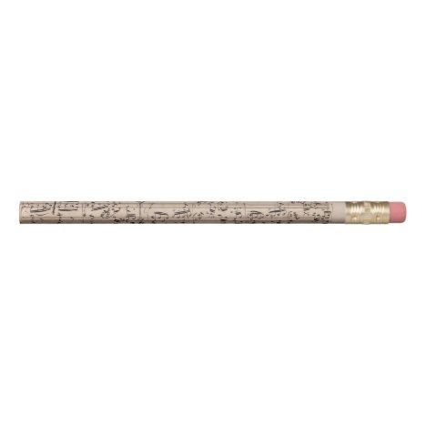 Brahms Theme and Variations Music Manuscript Pencil