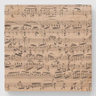 Brahms Theme and Variations Music Manuscript Stone Coaster