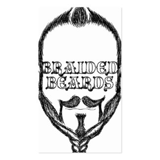 braided beards business card