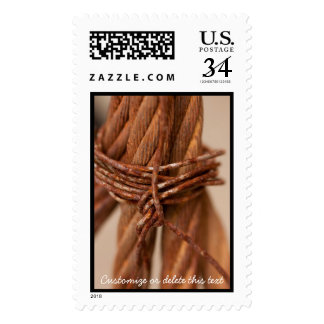 Braided Chain with Rusted Wire; Customizable Postage
