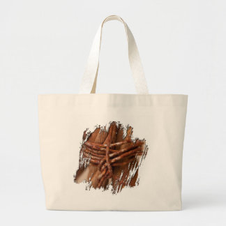Braided Chain with Rusted Wire Large Tote Bag