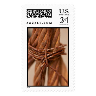 Braided Chain with Rusted Wire Postage