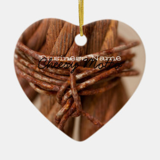 Braided Chain with Rusted Wire; Promotional Ceramic Ornament