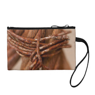 Braided Chain with Rusted Wire; Promotional Change Purse