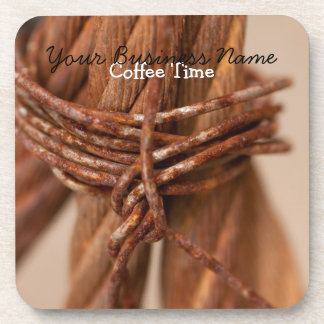 Braided Chain with Rusted Wire; Promotional Coaster