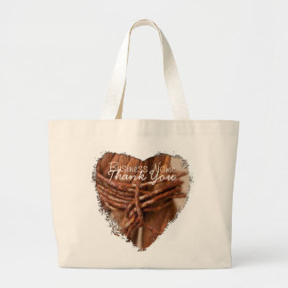 Braided Chain with Rusted Wire; Promotional Large Tote Bag