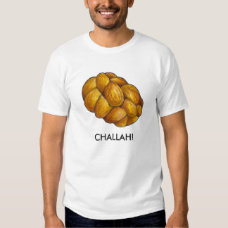 Braided Challah Bread Loaf Tee Shirt