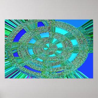 braided crop circle poster