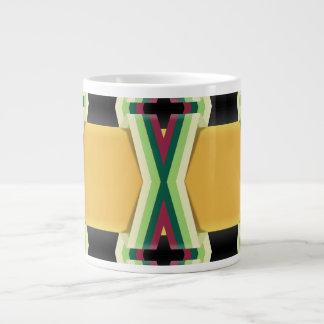 Braided Gold Bands Large Coffee Mug