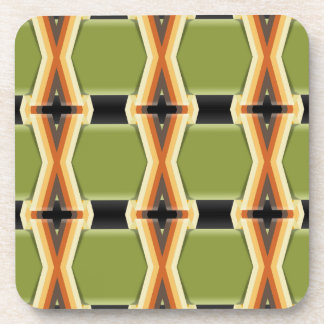 Braided Green Bands Drink Coaster