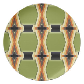 Braided Green Bands Melamine Plate