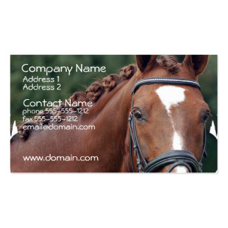 Braided Horse Mane Business Card