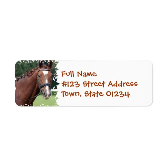 Braided Horse Mane Mailing Label