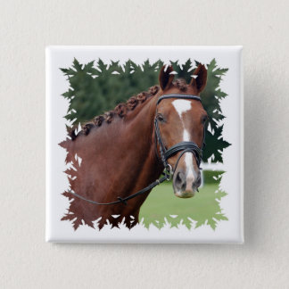 Braided Horse Mane Square Pin