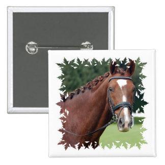 Braided Horse Mane Square Pin