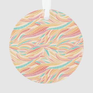 Braided Rainbow Segments Ornament