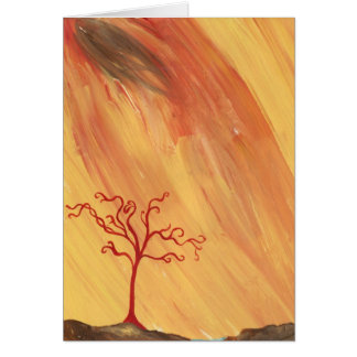 braided red tree card