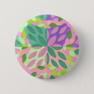 braided sisters pinback button