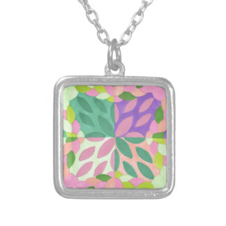 braided sisters square pendant necklace