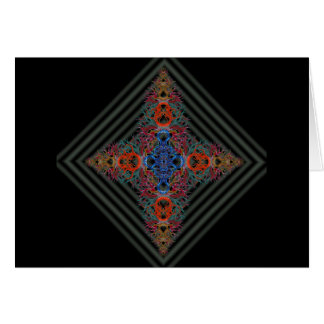 Braided Star on Concentric Squares Card