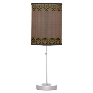 Braided Trim Twill Table Lamp