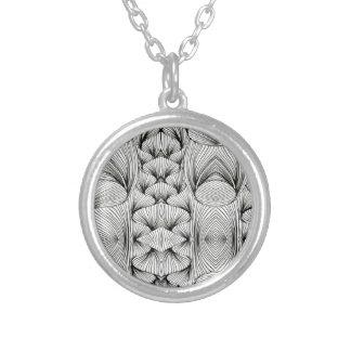 Braids Round Pendant Necklace