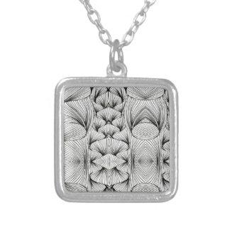 Braids Square Pendant Necklace