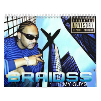 BRAIDSS My Guys Custom Printed Calendar