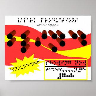 Braille Advert Poster