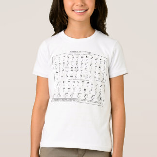 Braille Alphabet Kid's Shirt