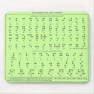 Braille Alphabet Mouse Pad