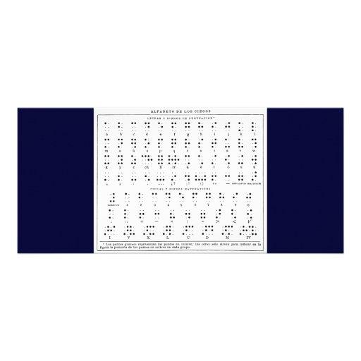 Braille Alphabet Rack Card