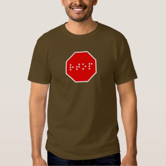 Braille Stop Sign Tshirt