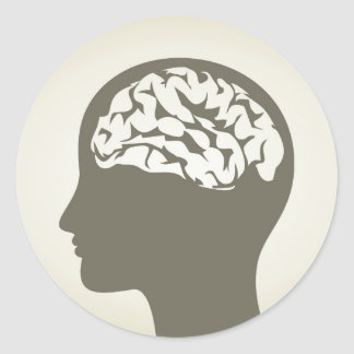 Brain5 Classic Round Sticker