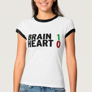 Brain 1 Heart 0 T-Shirt